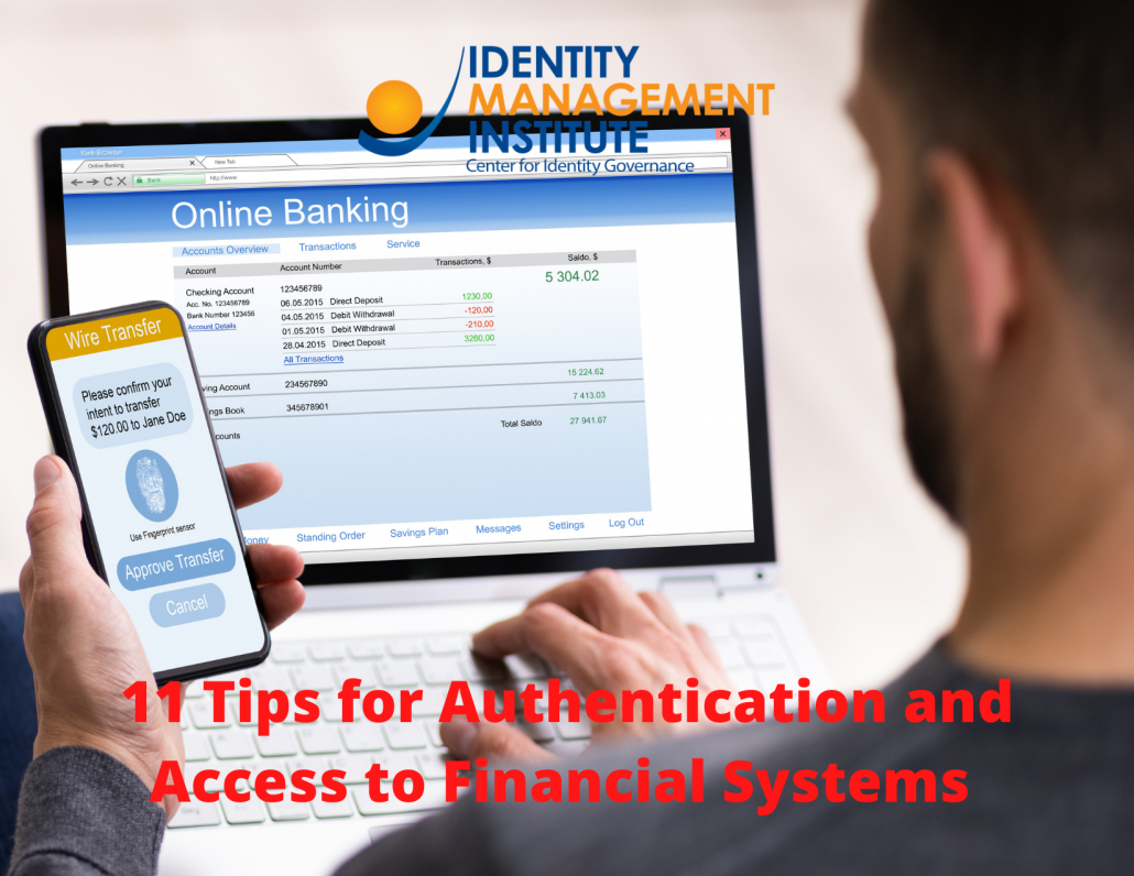 11 Tips for Authentication and Access to Financial Systems from FFIEC Guidance